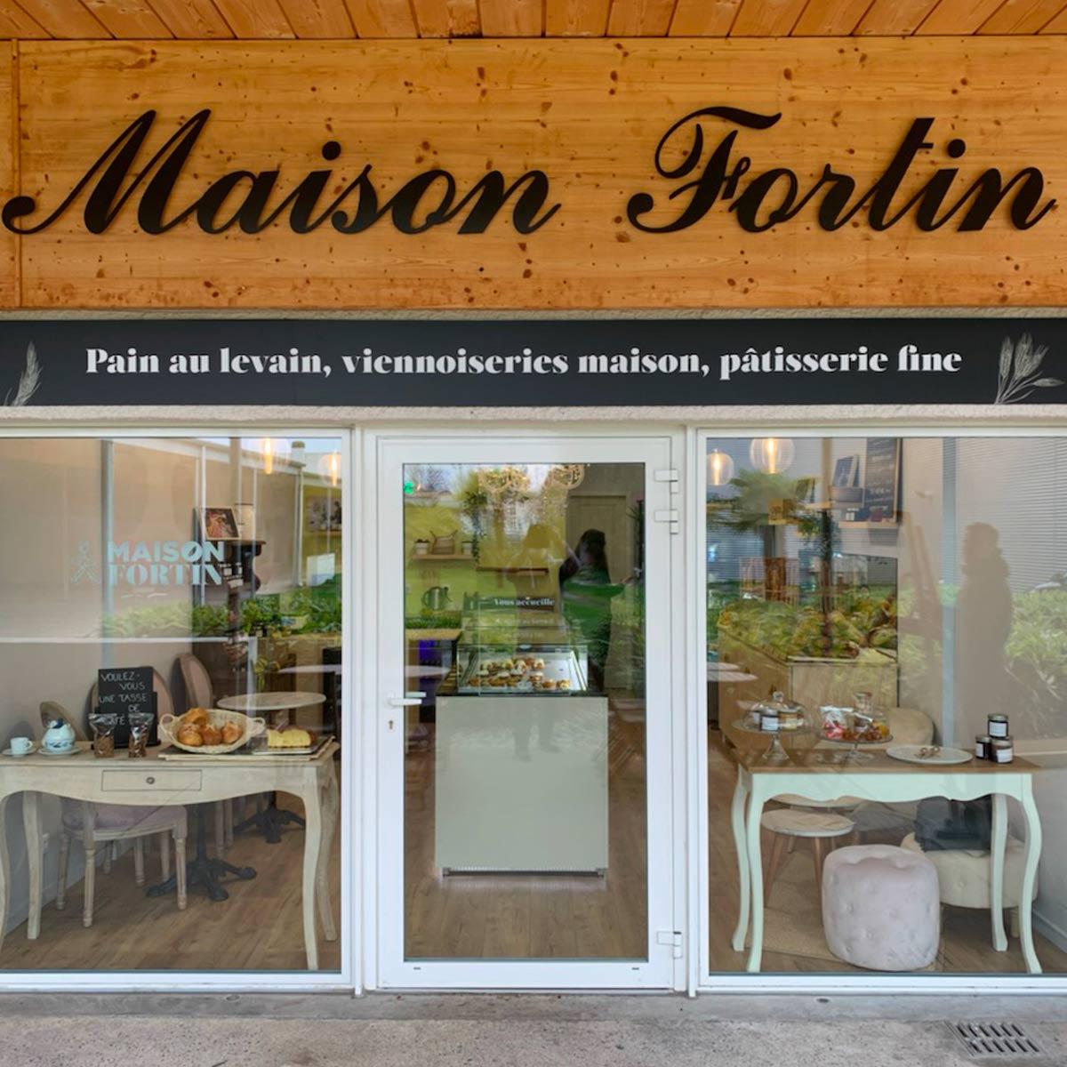 Nouvelle ouverture de la boulangerie, pâtisserie fine et viennoiseries de la Maison Fortin dans la ville de Cestas