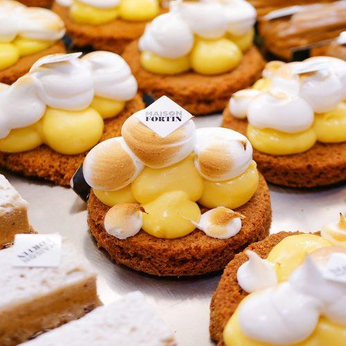 Pâtisserie tarte au citron Maison Fortin