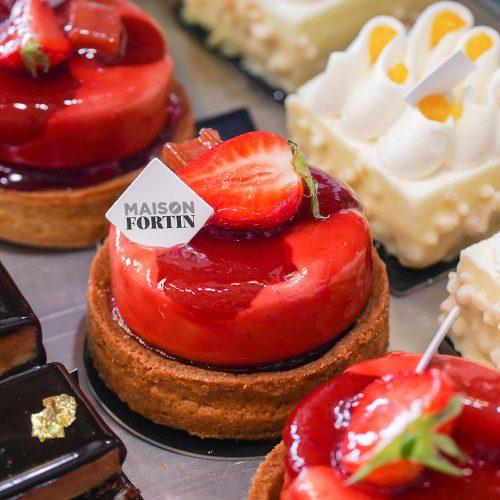 Pâtisserie Loly fraises Maison Fortin Bordeaux Pessac Cestas