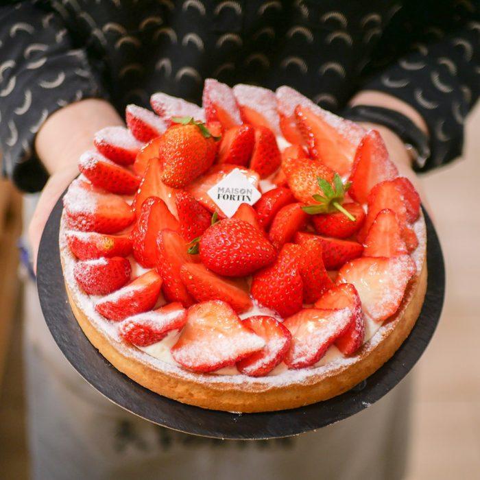 Pâtisserie Tarte aux fraises Maison Fortin Bordeaux Pessac Cestas